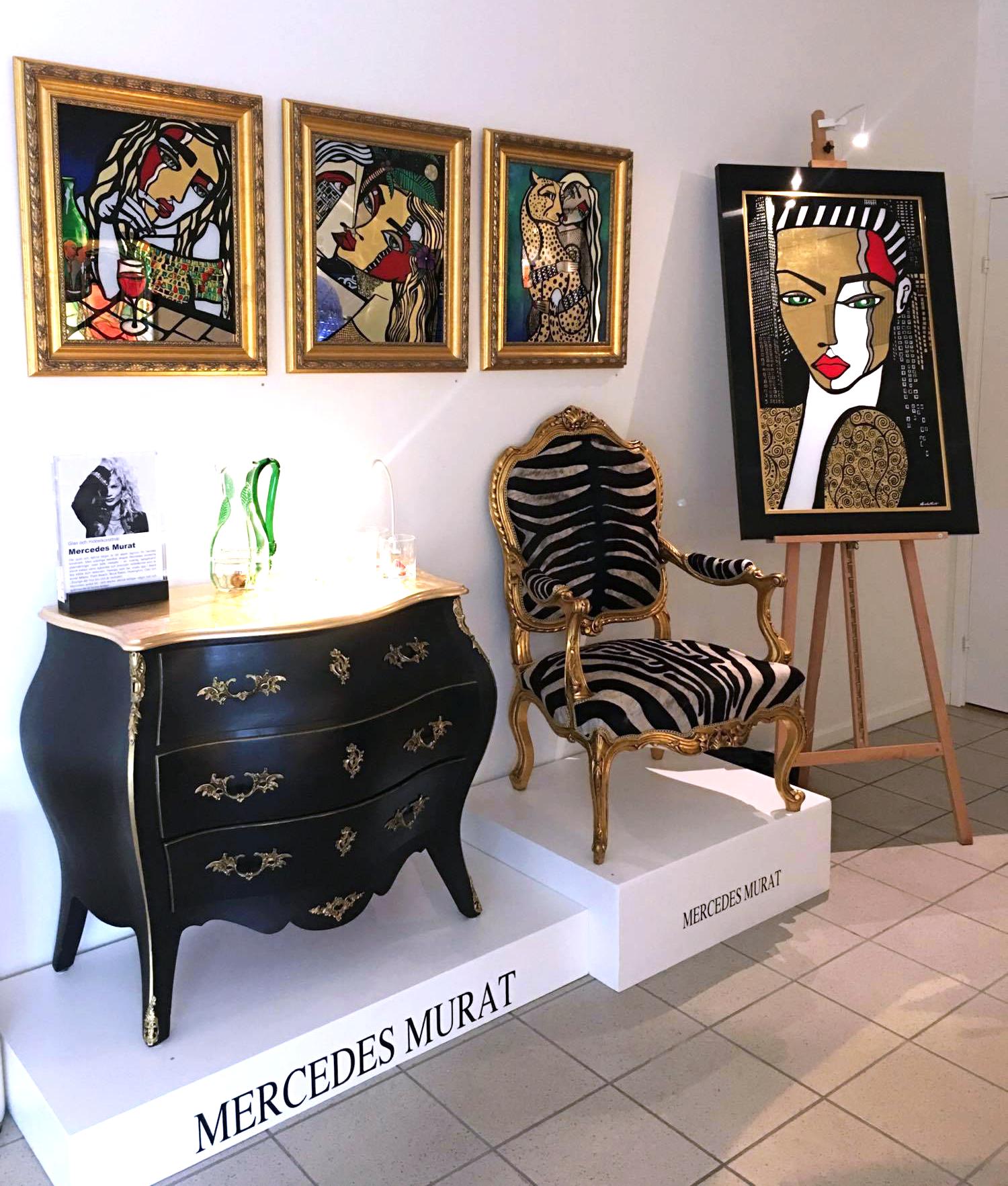 Mercedes Murat, glasrikets skatter, konst, konstutställning